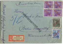 Brief Berlin - R-Brief 76 Pf. Rotaufdruck - Ortsbriefbrief 1949 - Berlin (West)
