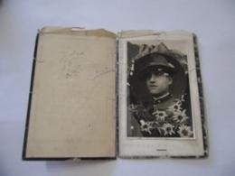 WW2 LUTTINO DEATH CARD LUIGI RIVA CAPORAL MAGGIORE 5°ALPINI PONTE DI LEGNO 1932 - Militari