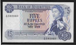 Maurice - 5 Rupees - Pick N°30 - NEUF - Mauritius