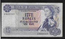 Maurice - 5 Rupees - Pick N°30 - TB - Mauritius