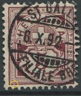 1899 - 5 Rp. Wertziffer Gestempelt - ABART Randlinie Unten Rechts Unterbrochen - Abarten
