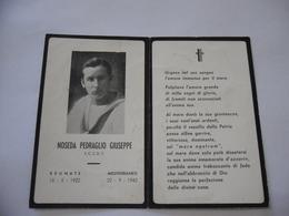 WW2 REGIA MARINA LUTTINO DEATH CARD 1942 NOSEDA PEDRAGLIO GIUSEPPE NATO A BRUNATE MORTO NEL MEDITERRANEO - Militaria