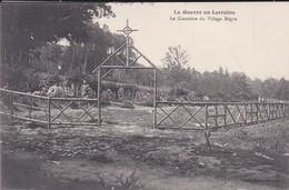 MILITARIA---54----la Guerre En Lorraine--le Cimetière Du Village Nègre--( Guerre 1914-1918 )--voir 2 Scans - Guerra 1914-18
