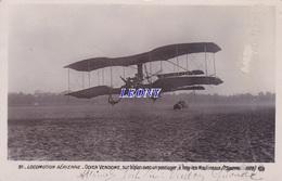 """CPA  """" LOCOMOTION AERIENNE - ODIER VENDOME Sur BIPLAN Avec Un PASSAGER à ISSY Les MOOULINEAUX - ....-1914: Precursori"""
