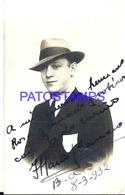 94971 ARTIST MARIO CANARO SINGER CANTANTE TANGO YEAR 1932 AUTOGRAPH POSTAL POSTCARD - Artistes