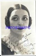 94972 ARTIST MARGARITA PADIN ACTRESS COMIC YEAR 1934 AUTOGRAPH POSTAL POSTCARD - Artisti