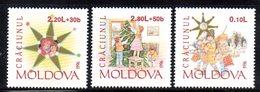 835 490 - MOLDAVIA MOLDOVA 1996,   Unificato N. 206/208  Nuovo ***  NATALE - Moldavia