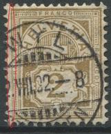 1903 - 2 Rp. Wertziffer Gestempelt - ABART Linke Randlinie Dünn - Abarten