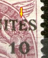 """N°1*_rouge Lilas_""""E"""" Brisé_Papier GC_tres Bon Centrage - Neufs"""