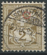 1904 - 2 Rp. Wertziffer Gestempelt - ABART Farbfleck Unter ET Von HELVETIA - Abarten