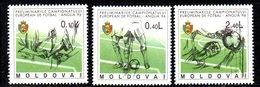 837 490 - MOLDAVIA MOLDOVA 1994,   Unificato N. 129/131  Nuovo *** FOOTBALL CALCIO - Moldavia