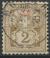 1905 - 2 Rp. Wertziffer Gestempelt - ABART VE Von HELVETIA Defekt - Abarten