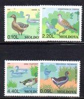 840 490 - MOLDAVIA MOLDOVA 1996,   Unificato N. 189/192  Nuovo ***  UCCELLI - Moldavia