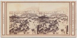 Sommer & Behles - Vedute Di Napoli E Dintorni, 3 Cartoline - Cartes Stéréoscopiques