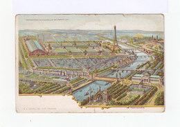 Exposition Universelle De Paris 1900. Illustration. Le Panorama. Tour Eiffel, Seine, Ponts,  Monuments.(2971) - Expositions
