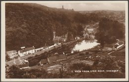 View From Lion Rock, Cheddar, Somerset, C.1920s - RP Postcard - Cheddar