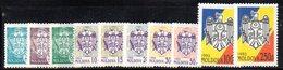 843 490 - MOLDAVIA MOLDOVA 1993,   Unificato N. 63B/72B  Nuovo ***  STEMMI - Moldavia