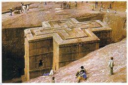 1 AK Äthiopien Ethiopia * Felsenkirche Bet Giyorgis In Lalibela - Erbaut Im 12. Jh. - Seit 1978 UNESCO Weltkulturerbe - Ethiopia