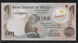 Malte - 1 Lira - Pick N°34 - NEUF - Malte