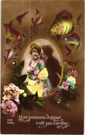 LES POISSONS D'AMOUR,N'ONT PAS D'ARETES ,AMOUREUX REF 56407 - April Fool's Day