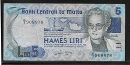 Malte - 5 Liri - Pick N°38 - SUP - Malte