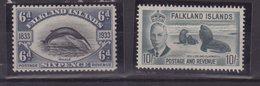 FALKLANDS ISLANDS : 6 D ET 10/  * Et ** . - Grande-Bretagne (ex-colonies & Protectorats)