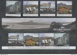 AUSTRALIAN ANTARCTIC, AAT, 2017, MNH, HEARD ISLAND, PENGUINS, SEALS, MOUNTAINS, 4v+SHEETLET - Penguins
