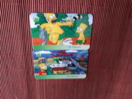 The Simpsons 2 Phonecards   (Mint,Neuve)  Rare - Comics