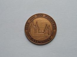 OVERSTEPOORT - 1983 Archeologische Vereniging OUD MECHELEN ( Bronskleur 33 Mm.- Details, Zie Foto ) - Tokens Of Communes