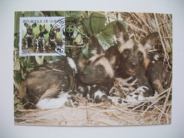 Carte Maximum  WWF  Lot De 4 Cartes  Hyènes République De Guinée - Maximum Cards