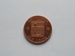 LOENHOUT Kasteel 1983 ( Bronskleur - Details, Zie Foto ) - Tokens Of Communes