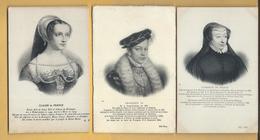 Lot De 11 C.P.A. Rois Et Reines De France - Personnages Historiques