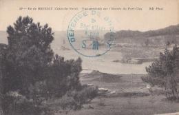 """Cachet   """" Défense De Bréhat 3ème Régiment D'Artillerie à Pied S. M  """"  Sur CP Du Port-Clos - Postmark Collection (Covers)"""
