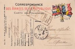 """Correspondance Militaire Avec Cachet """"  1er Bataillon Des Chasseurs à Pieds """" - WW I"""