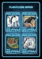 Maldives 2018, Animals, Flightless Birds, Penguins, Ostrich, 4vai In BF - Penguins