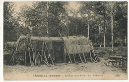 Judaica  Hutte De Bucherons à Ozoir La Ferriere Comparée Au Chateau Des Rotschild Et Gourbi Arabe ELD - Judaisme