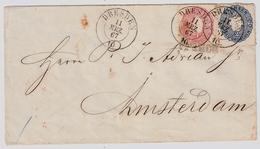 1867, Bf. 1 + 2 Gr. Nach Holland!  , #a399 - Sachsen