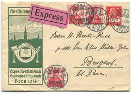 1911 - Ausstellungsbrief LANDI 1914 Per EXPRESS Von BASEL Nach BURGDORF - Ganzsachen