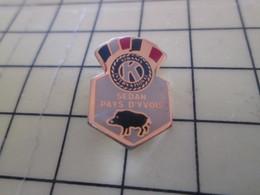 1016b Pin's Pins / Beau Et Rare : Thème ASSOCIATION / LES KIWANIS SEDAN PAYS D'YVOIS SANGLIER - Associations