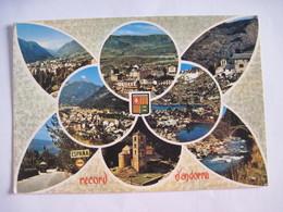 CPSM Record D'Andorra  VALLS D'ANDORRA L'Andorre Touristique Multivues  T.B.E. - Andorra
