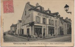 EPINAY SUR ORGE  GRANDE RUE ET RUE DU PETITVAUX  HOTEL CARQUEVILLE - Epinay-sur-Orge