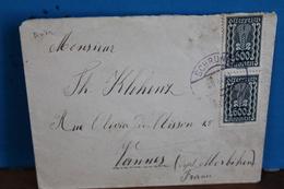 1920   -   ENVELOPPE  COMPLETE   POUR  VANNES  EN  FRANCE   2  PHOTOS - 1918-1945 1. Republik