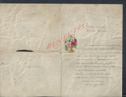 LETTRE GAUFFRÉE ILLUSTRÉE FLEURS ECRITE DE OHAIN 1897 VEND EN ETAT DECHIRURE: - Flowers