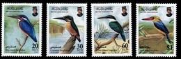 (036) Brunei  Birds / Oiseaux / Vögel / Kingfishers / Eisvögel  ** / Mnh  Michel 552-55 - Brunei (1984-...)