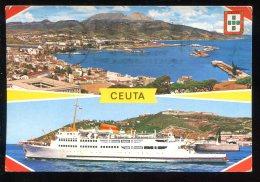 CPM Espagne CEUTA Vista General Y Transbordador - Ceuta