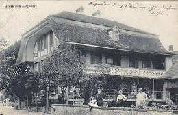 Gruss Aus Kirchdorf - Wirtschaft Zur Linde - Animiert - 1911             (P-147-61120) - BE Berne