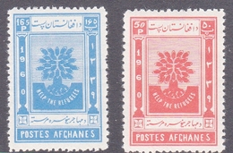 Afghanistan SG 454-455 1960 World Refugee Year MNH - Afghanistan