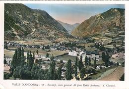 VALLÉE  D' ANDORRE  - Encamp, Vue Générale . Eglise St-Jean De Casellas . La Radio  (  3 . CPsm,  N Et B Et Couleur ) - Andorra