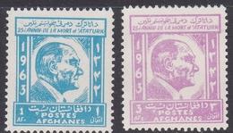 Afghanistan SG 503-504 1963 25th Anniversary Death Of Kemal Ataturk MNH - Afghanistan