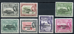1966 - GUYANA - Mi. Nr. 282/287+293 - NH - (CW4755.10) - Guiana (1966-...)